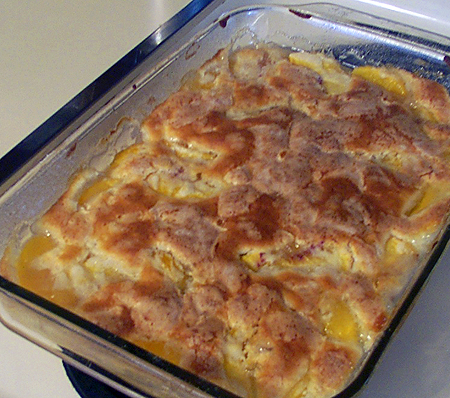 Recipe: Mom's Old-Fashioned Peach Cobbler – Luna Pier Cook